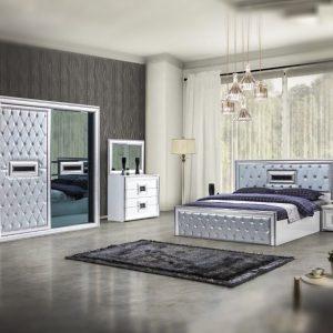 Dubai White mobila dormitor mobstore