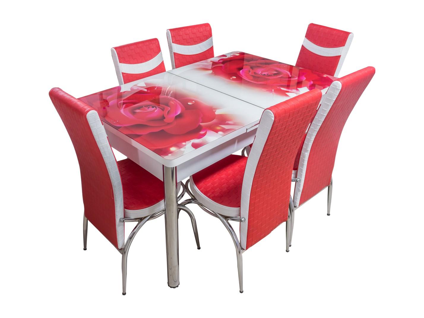Set masă extensibilă cu 6 scaune Butterfly